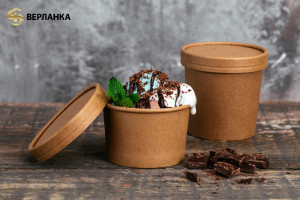 крафт стаканы для мороженого