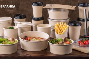 Paper hot cups. Paper bamboo disposable tableware