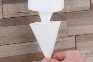 Одноразовые конусные стаканчики для вендинга