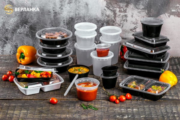 Disposable plastic food contianers