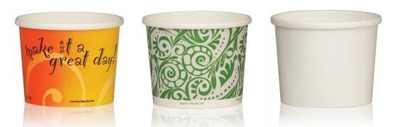 Одноразовые бумажные контейнеры для еды с собой и на вынос с бумажной крышкой