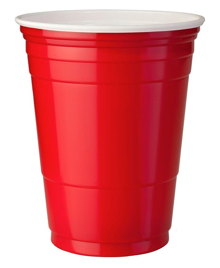 Одноразовые красно-белые стаканы для напитков, одноразовые красные стаканы для пива