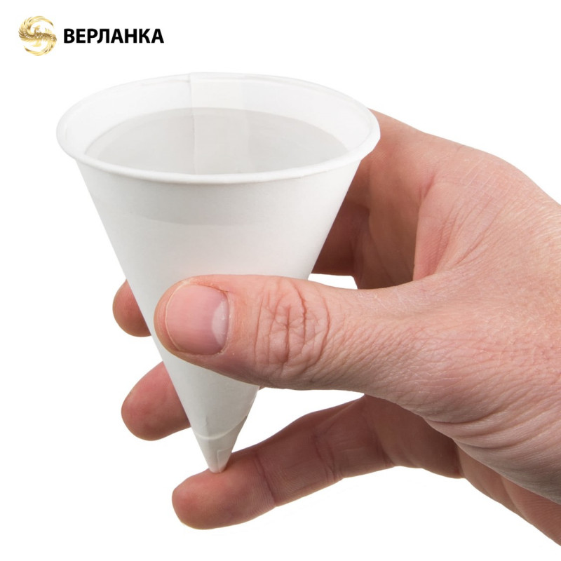 Disposable vending cone paper cups water cones
