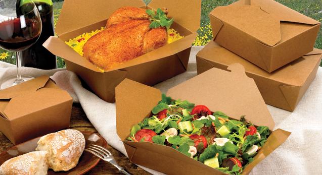 Пищевая упаковка крафт для еды на вынос и доставки блюд, бумажные крафт контейнеры для еды