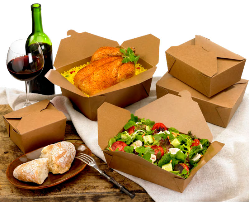 Упаковка крафт для еды на вынос