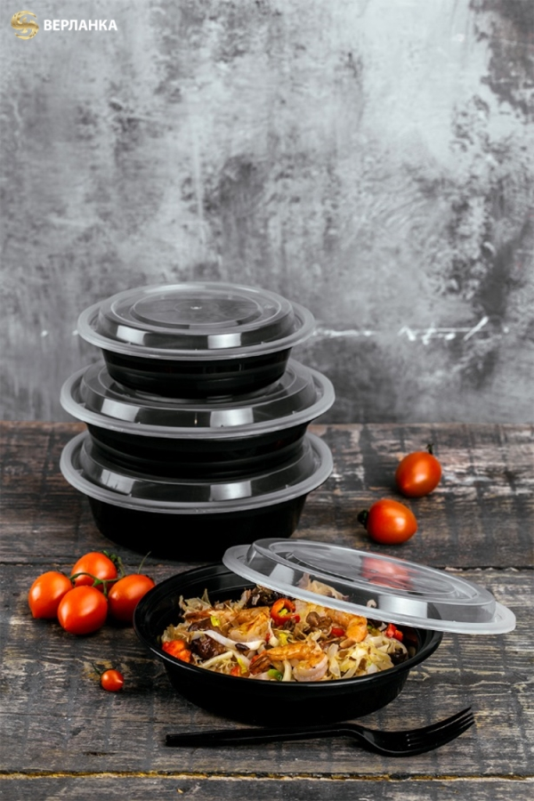 Round take out food containers