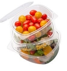 Disposable food containers for gastronomy and salads
