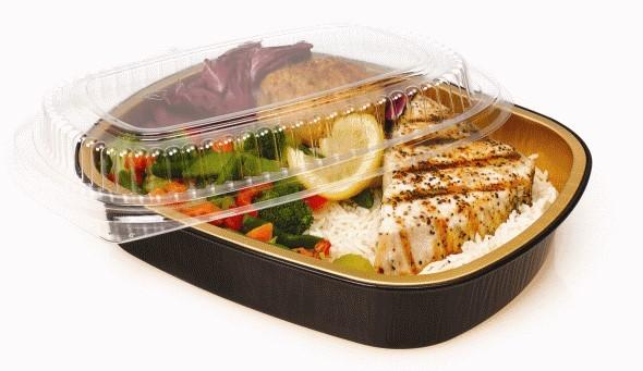 Премиальные алюминиевые контейнеры для суши и еды на вынос.