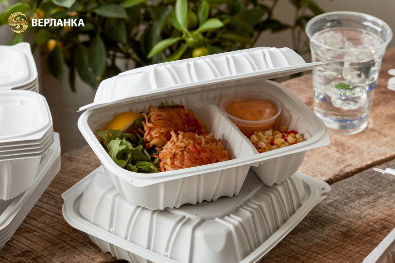 Eco-friendly hinged lid containers