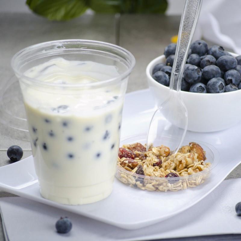 Одноразовый стакан для йогурта и гранолы